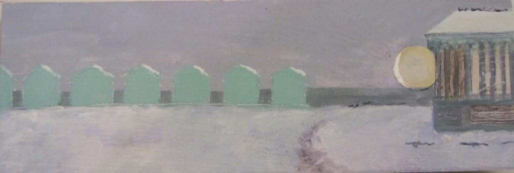 Brighton glimpses: beach huts.