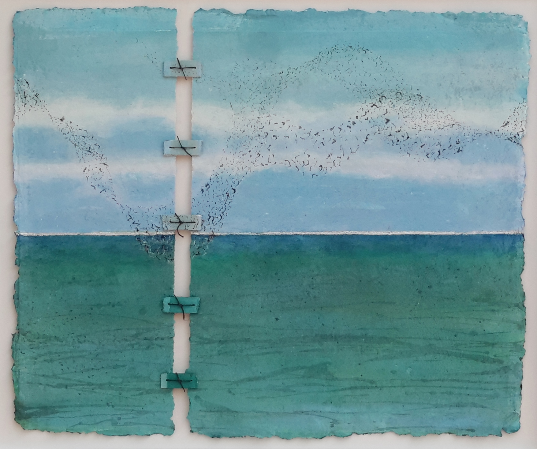 new art sea-view with starlings