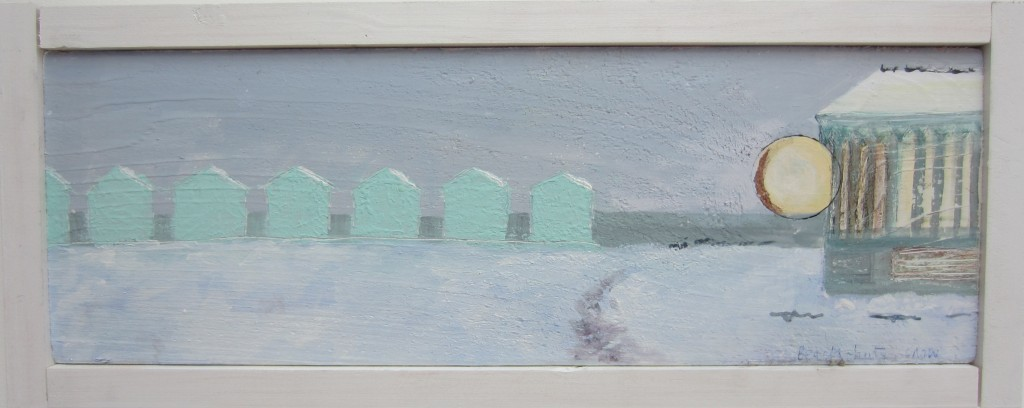 Beach-huts in the snow (sold)