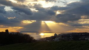 Sunset over Hastings