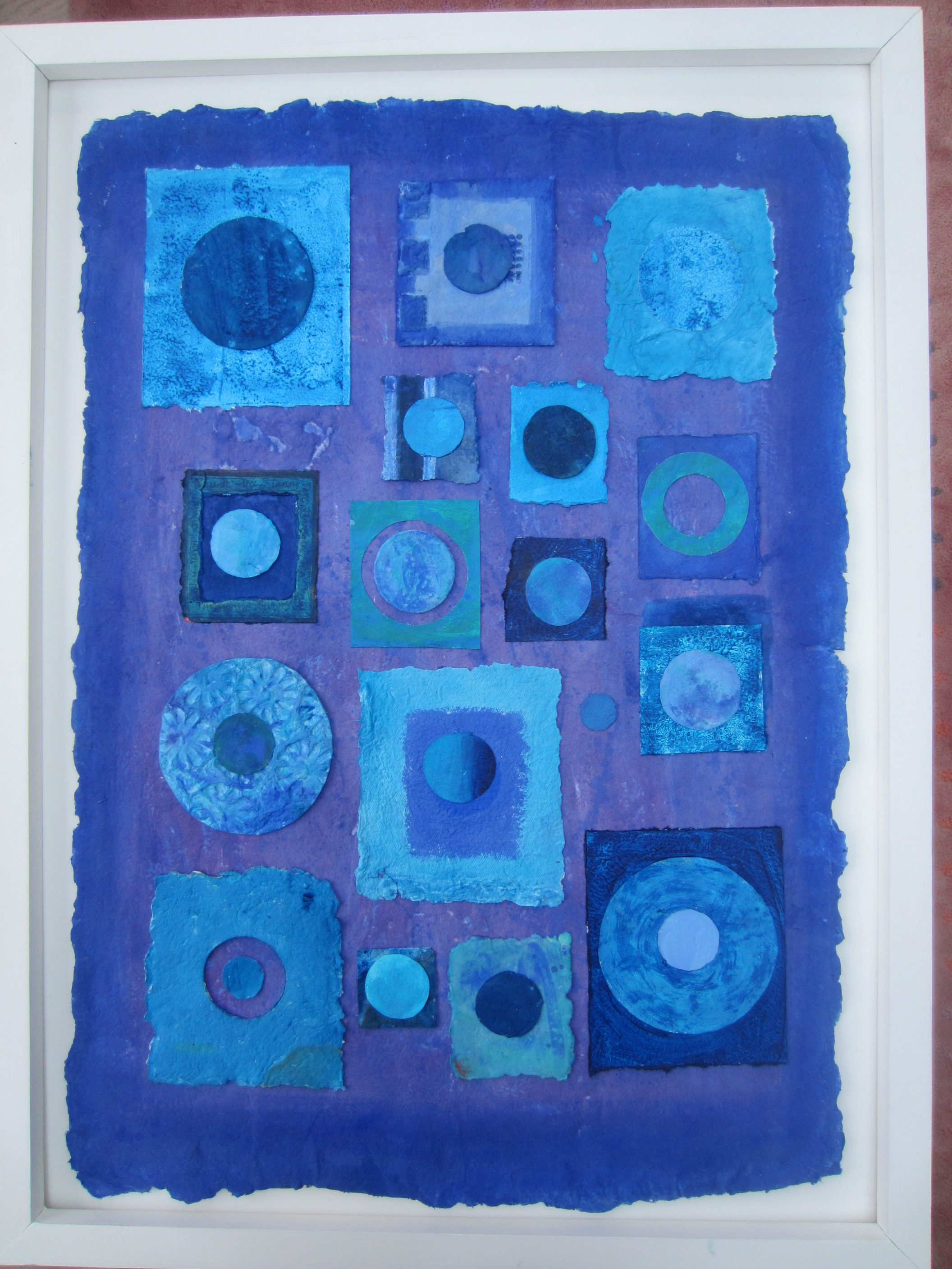 abstract blue circles and squares