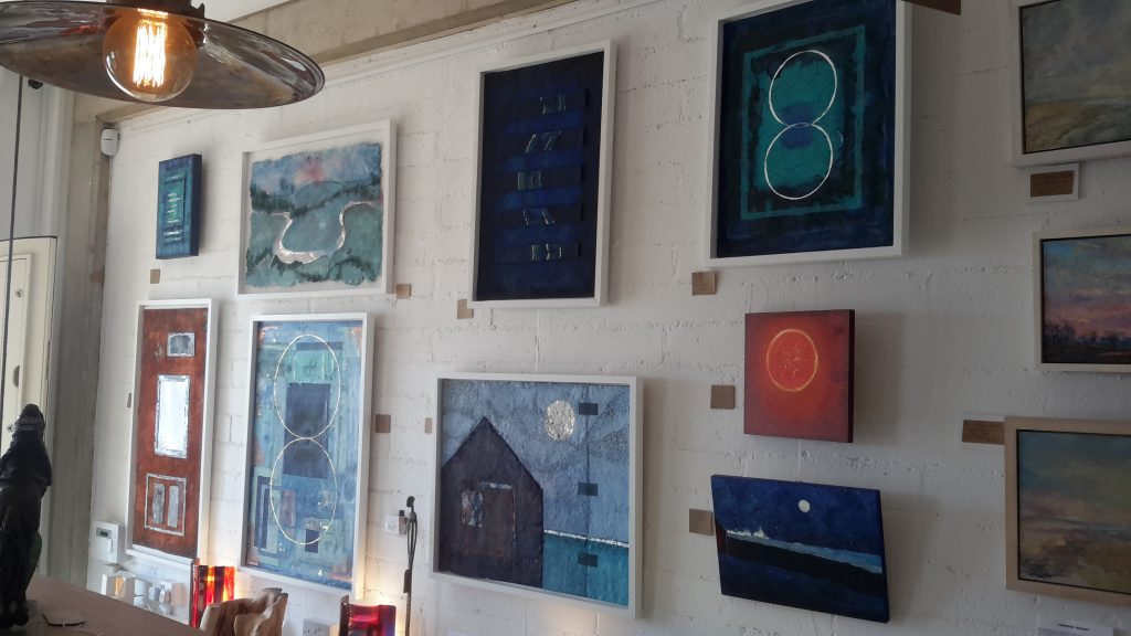 Jill's paintings at seafront gallery, Hove
