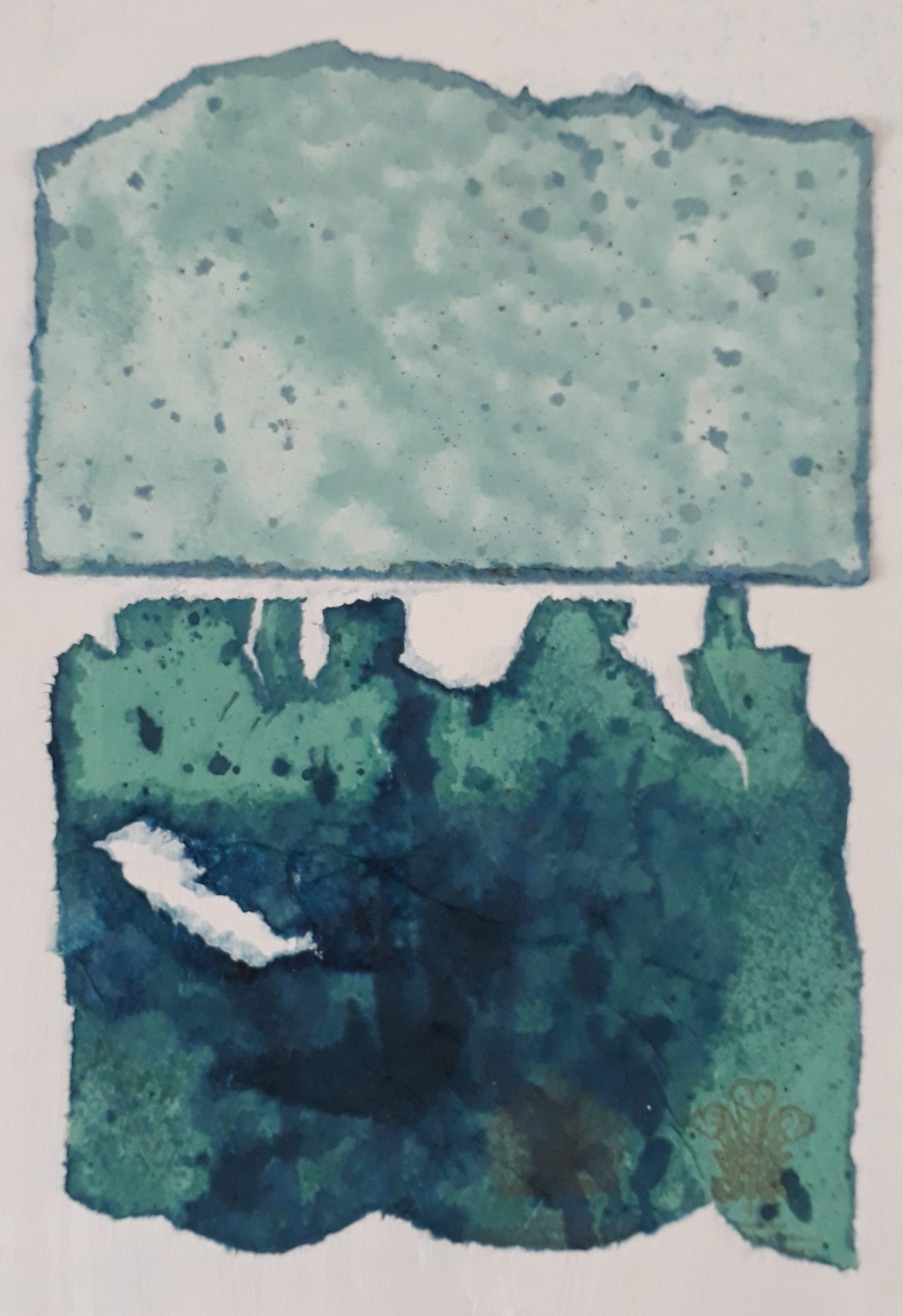 Small Green sea-sky painting